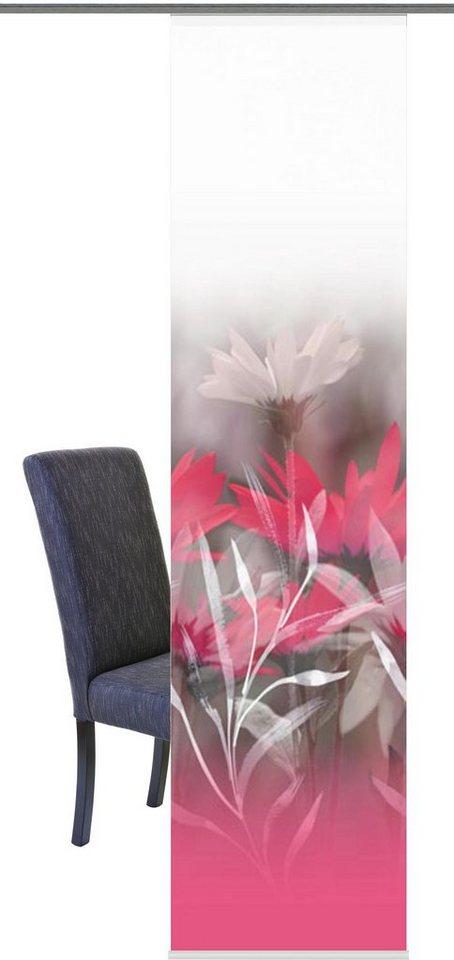 Schiebegardine, Home Wohnideen, »BURRIS«, mit Klettband (1 Stück mit Zubehör) in pink