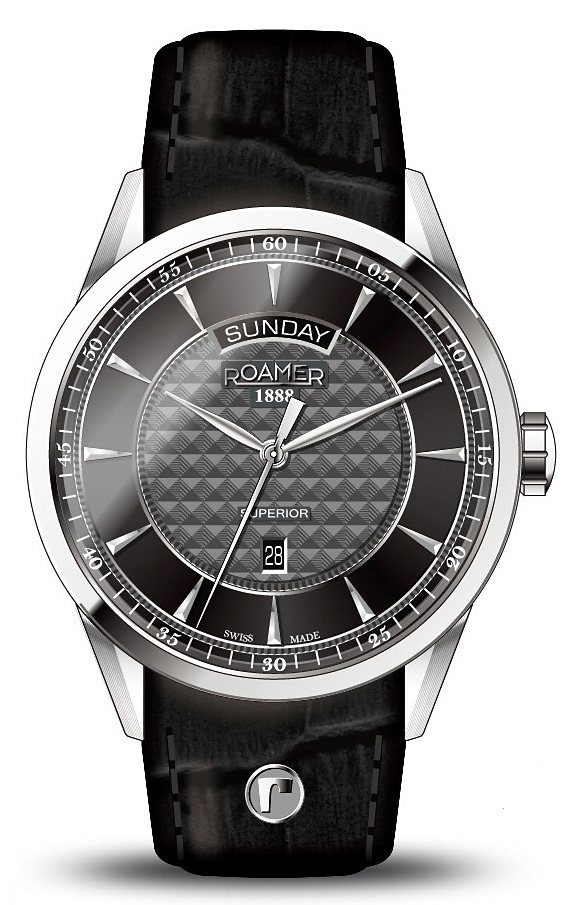Roamer Quarzuhr »SUPERIOR DAY DATE, 508293 41 55 05« in schwarz