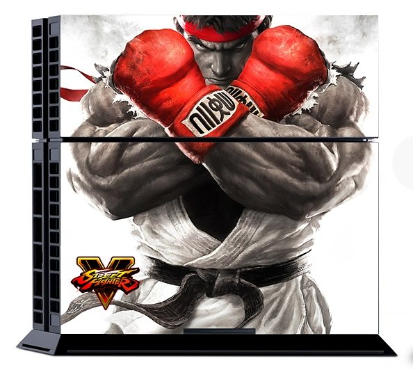 Snakebyte Street Fighter 5 Console Sticker Kit (Gloves) (Skin für PS4) »(PS4)«