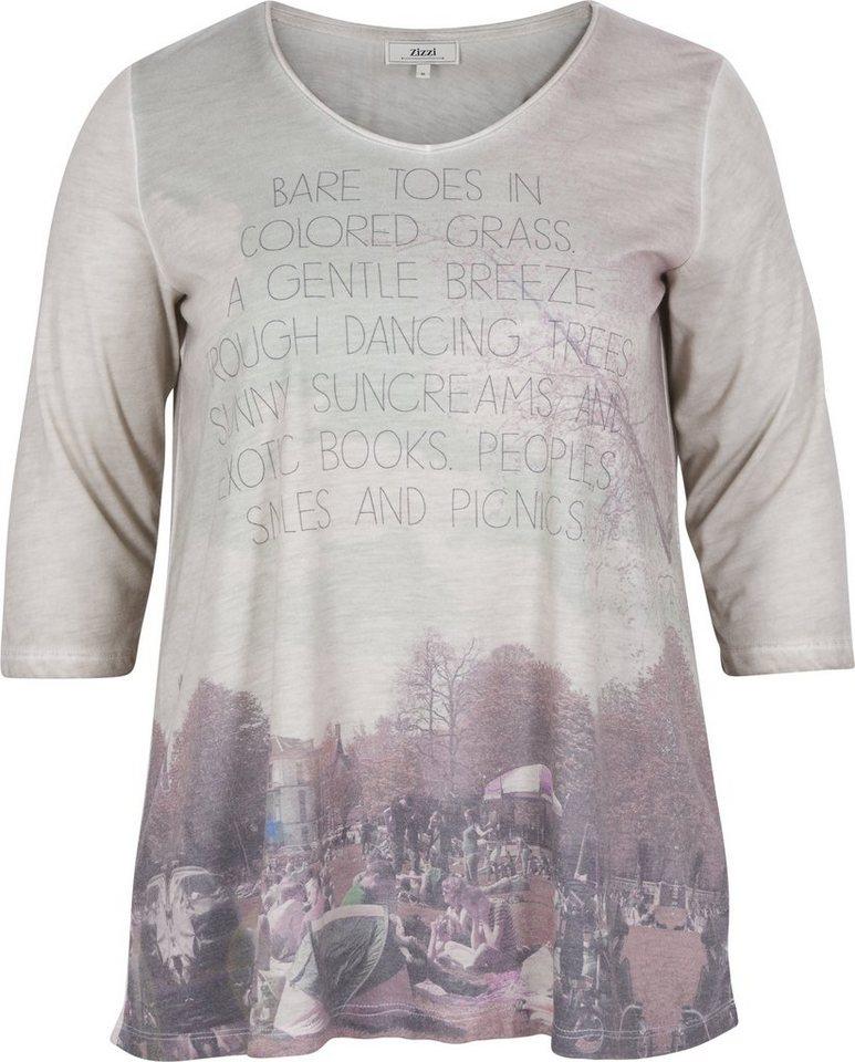 Zizzi T-Shirt in Dove