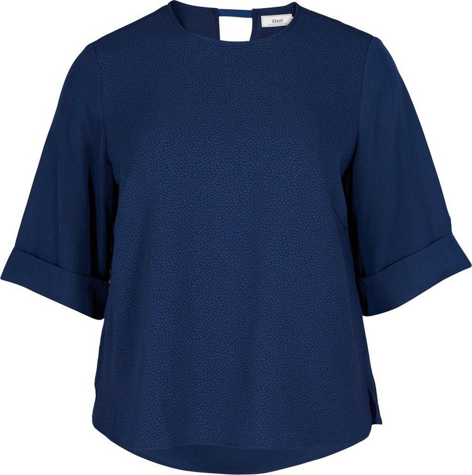 Zizzi Bluse in Dress Blues
