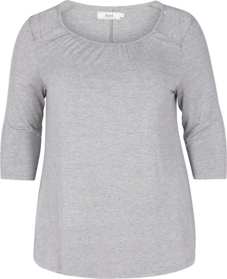 Zizzi T-Shirt in Grey Melange