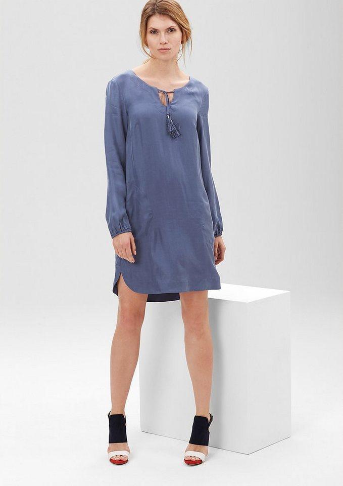 s.Oliver PREMIUM Tunika-Kleid mit feinem Schimmer in denim blue