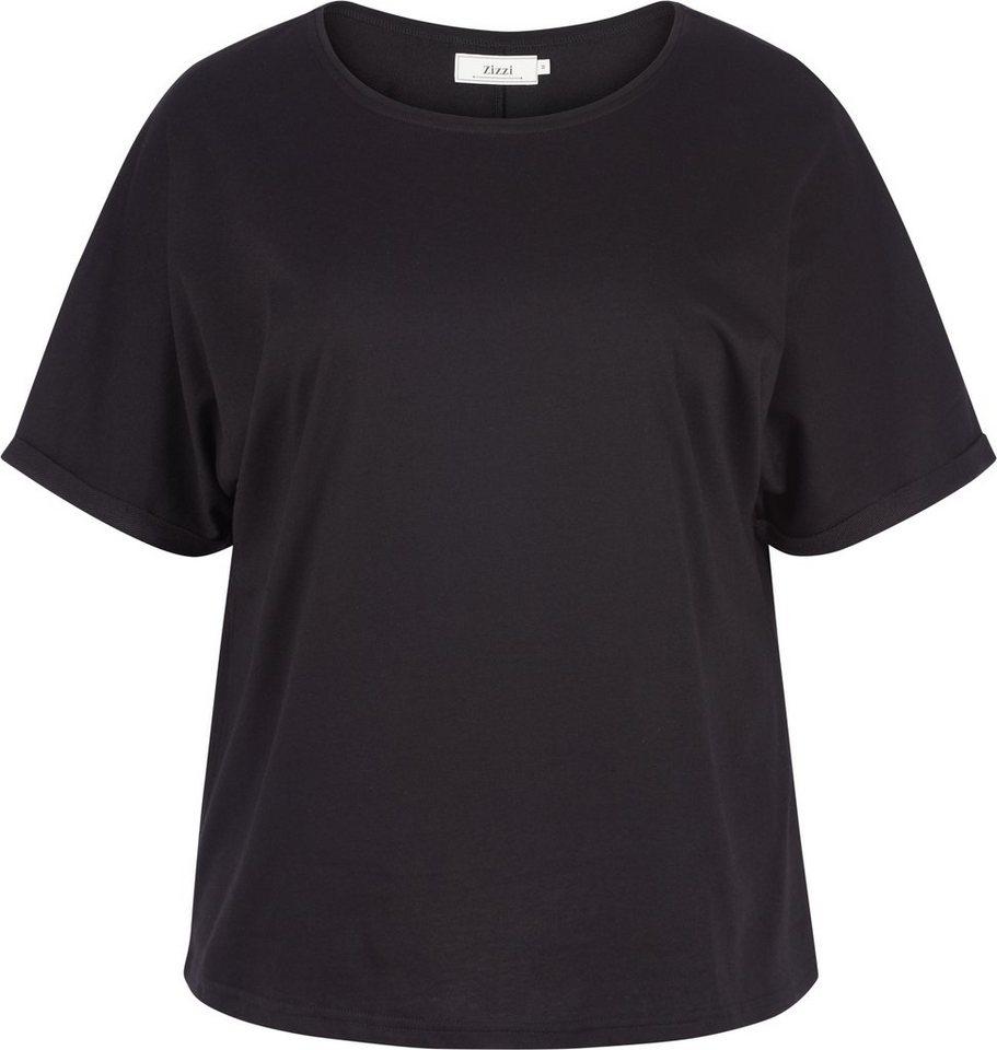 Zizzi Bluse in Black