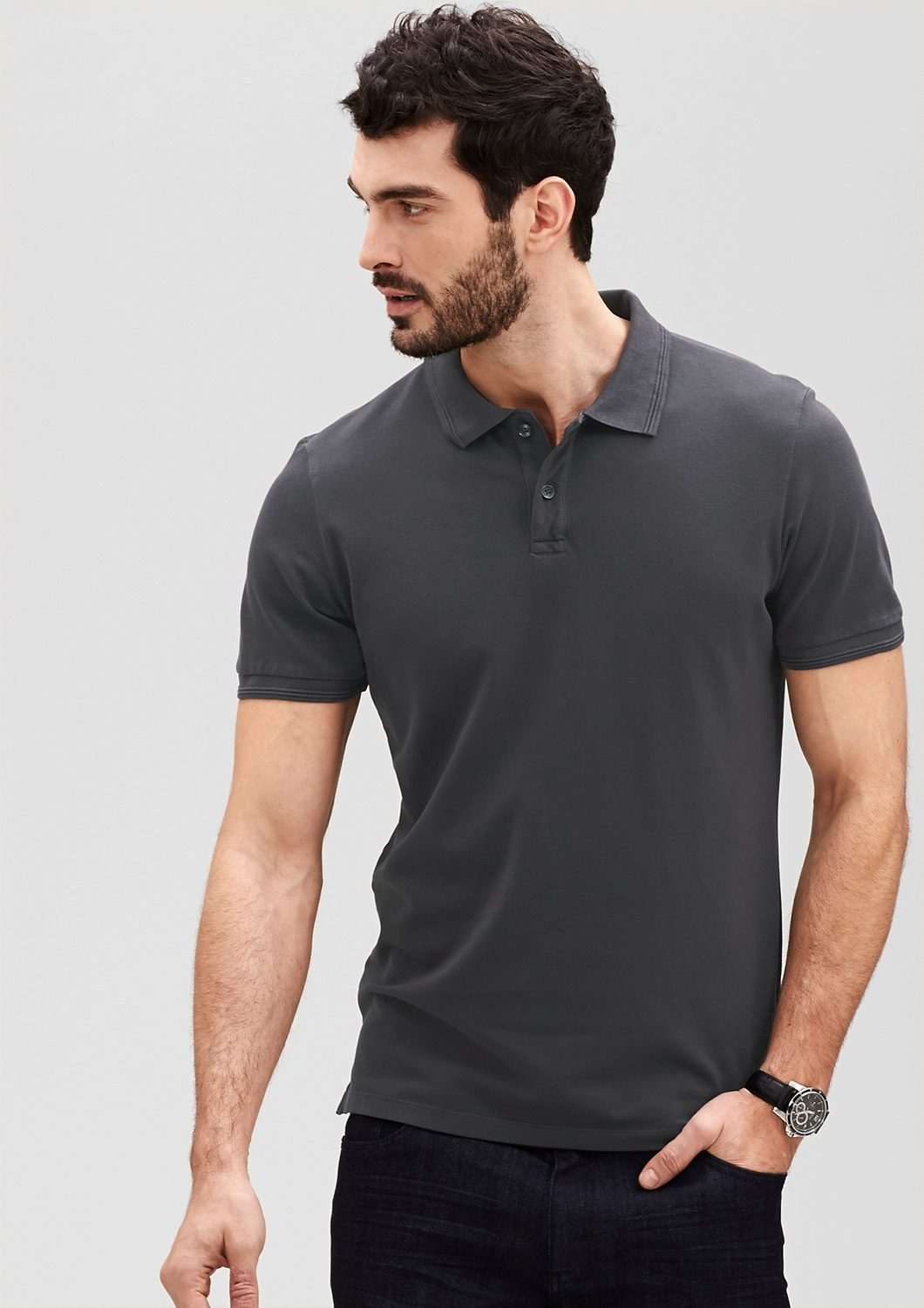 s.Oliver PREMIUM Garment Dye Superstretch-Poloshirt
