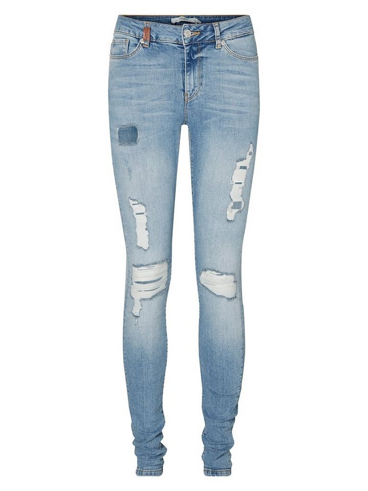 Vero Moda Seven NW Skinny Fit Jeans in Light Blue Denim