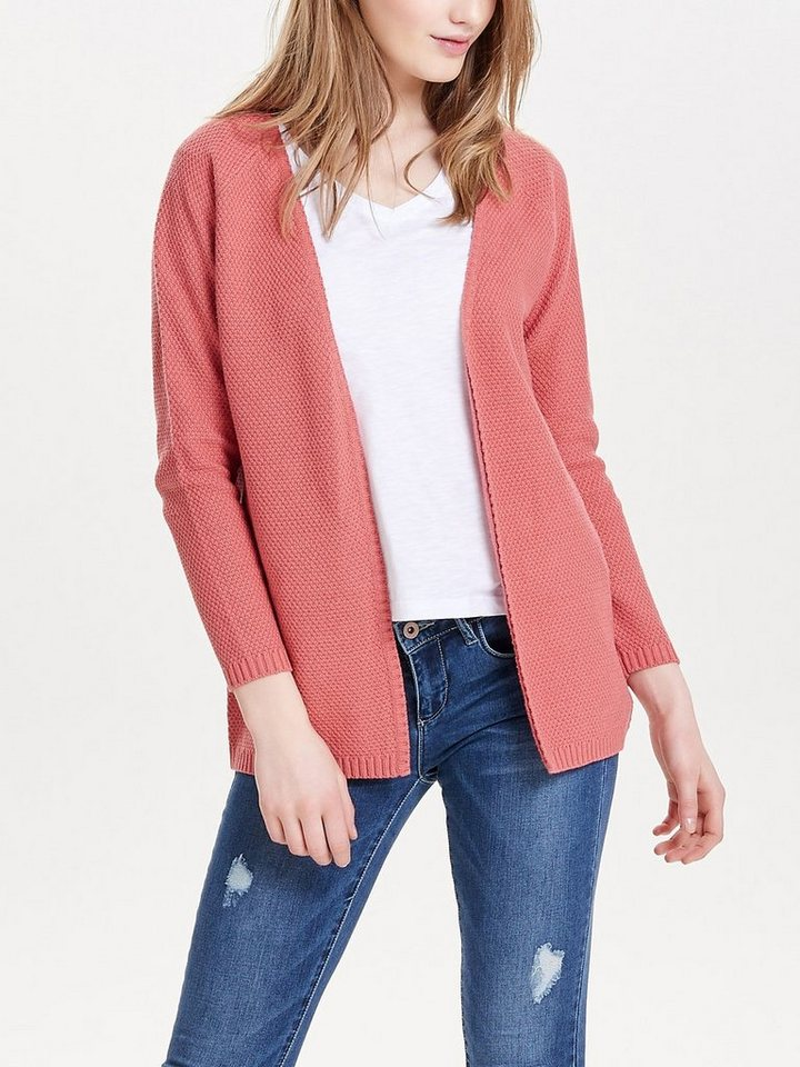 Only Lässiger Strick-Cardigan in Faded Rose