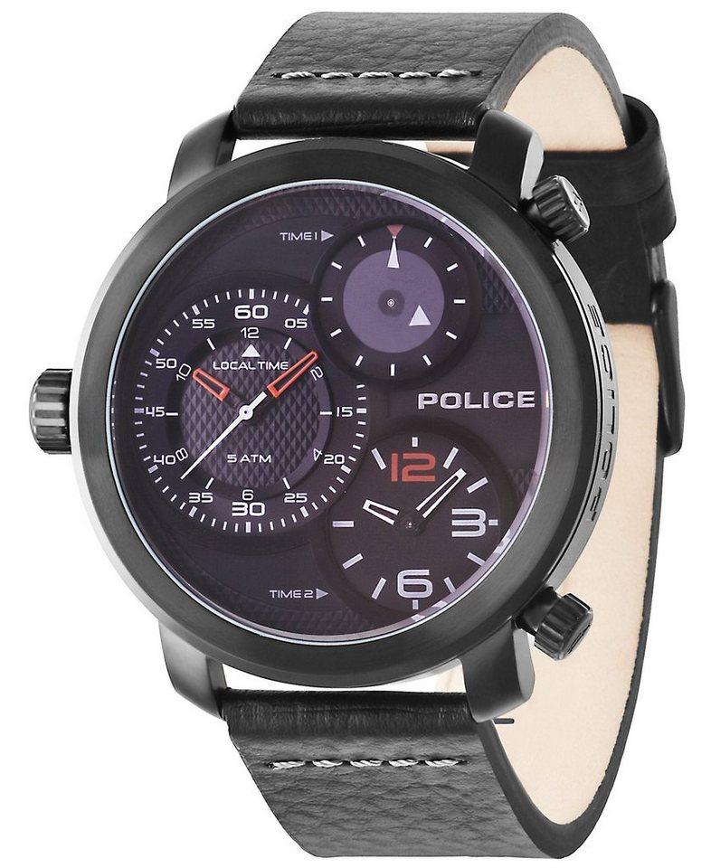 Police Multifunktionsuhr, »MAMBA, PL.14500XSB/02« in schwarz