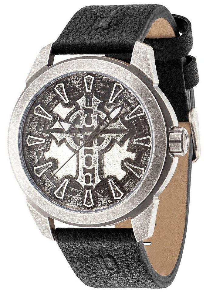 Police Armbanduhr, »MYSTERY, PL.14637JSQS/57« in schwarz