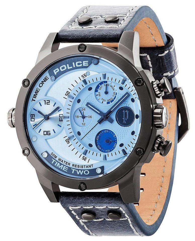 Police Multifunktionsuhr »ADDER, PL.14536JSU/13A« in blau