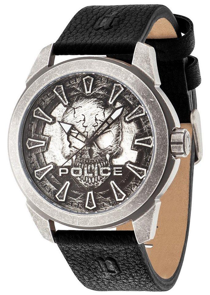 Police Armbanduhr, »MYSTERY, PL.14637JSQS/57A« in schwarz
