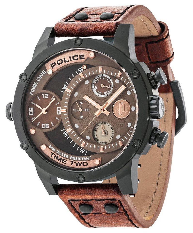 Police Multifunktionsuhr »ADDER, PL.14536JSB/12A« in braun