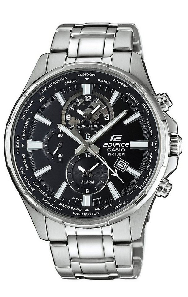 Casio Edifice Multifunktionsuhr »EFR-304D-1AVUEF« in silberfarben