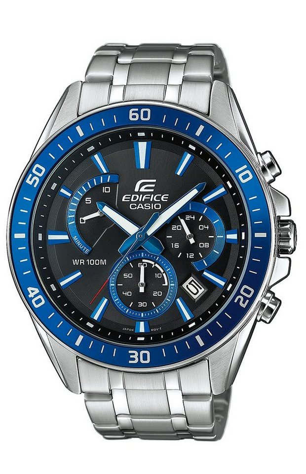 Casio Edifice Chronograph »EFR-552D-1A2VUEF« NEO-Display in silberfarben