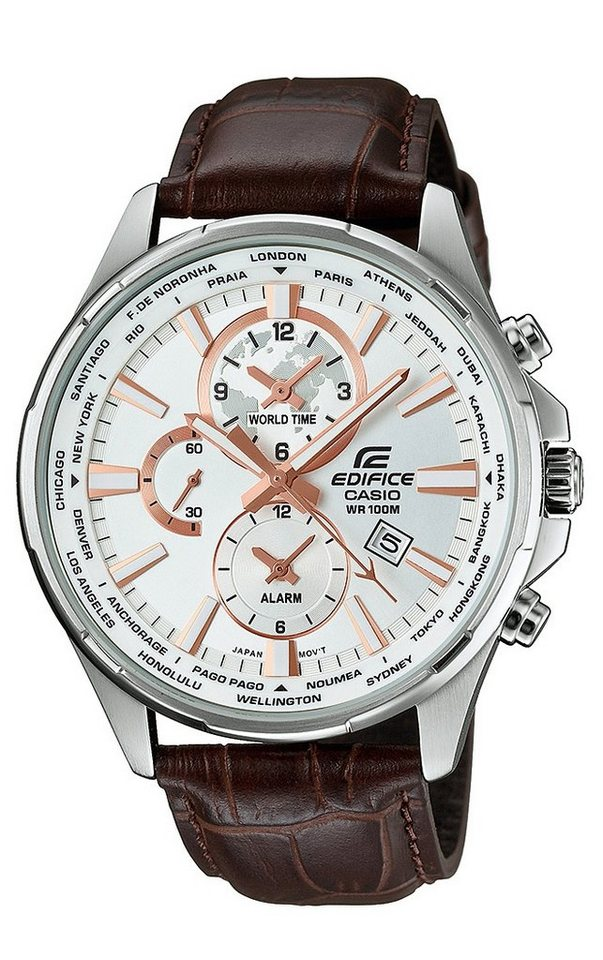 Casio Edifice Multifunktionsuhr »EFR-304L-7AVUEF« in braun