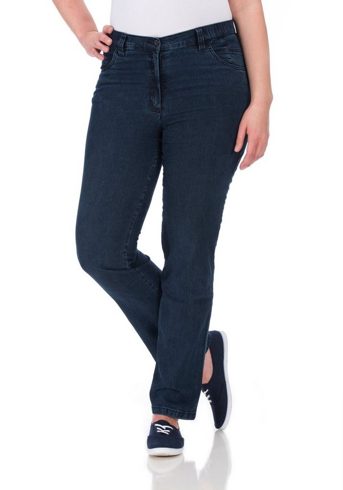 KjBRAND Hose »Betty Straight Leg« in denim stoned