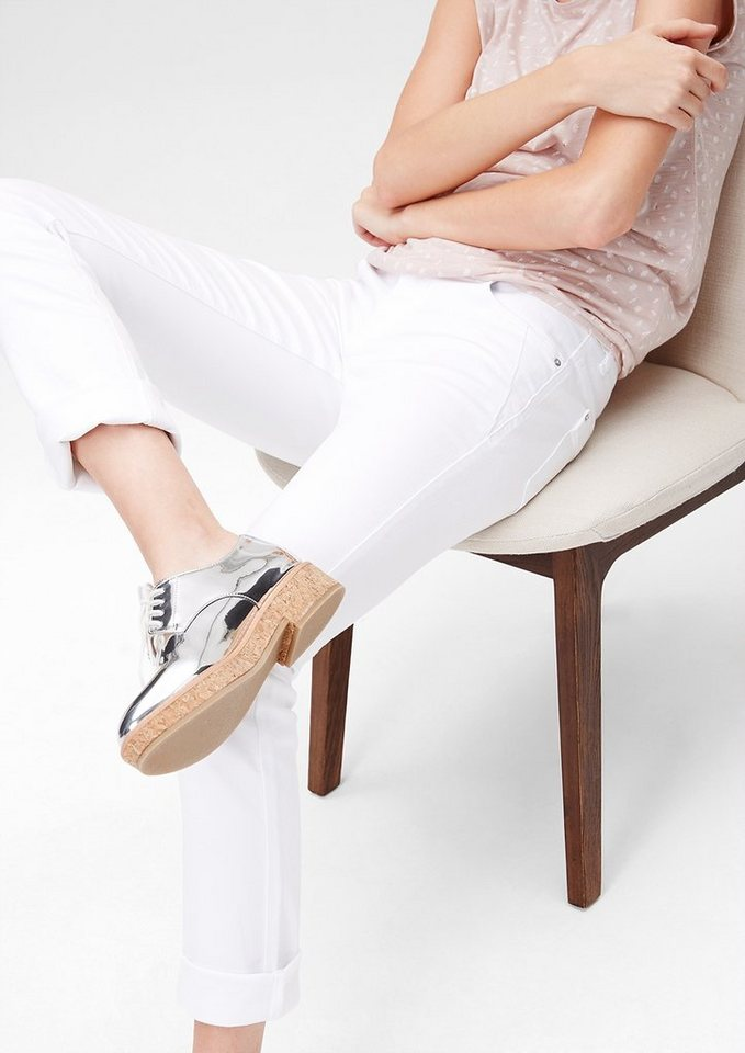 s.Oliver Shape Slim: Stretch-Jeans in white denim stretch