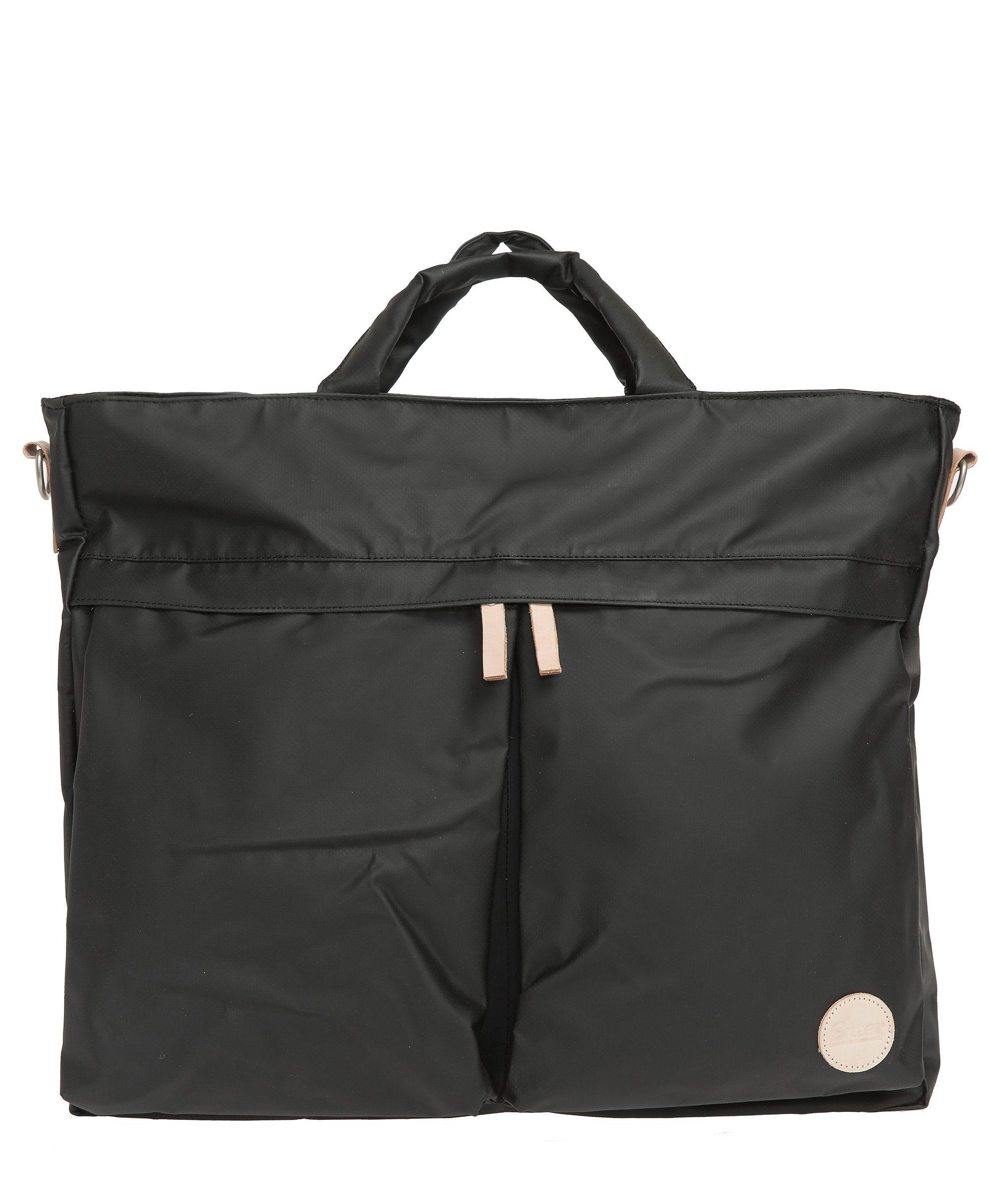 Enter Wasserabweisende Umhängetasche, »Helmet Tote Bag, Black/Natural«
