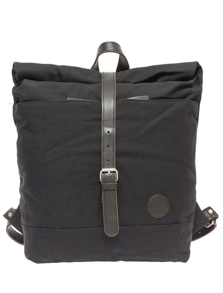 Enter Rucksack mit Aufroll-Verschluss, »Roll Top Backpack, Black/Dark Brown« in schwarz/braun