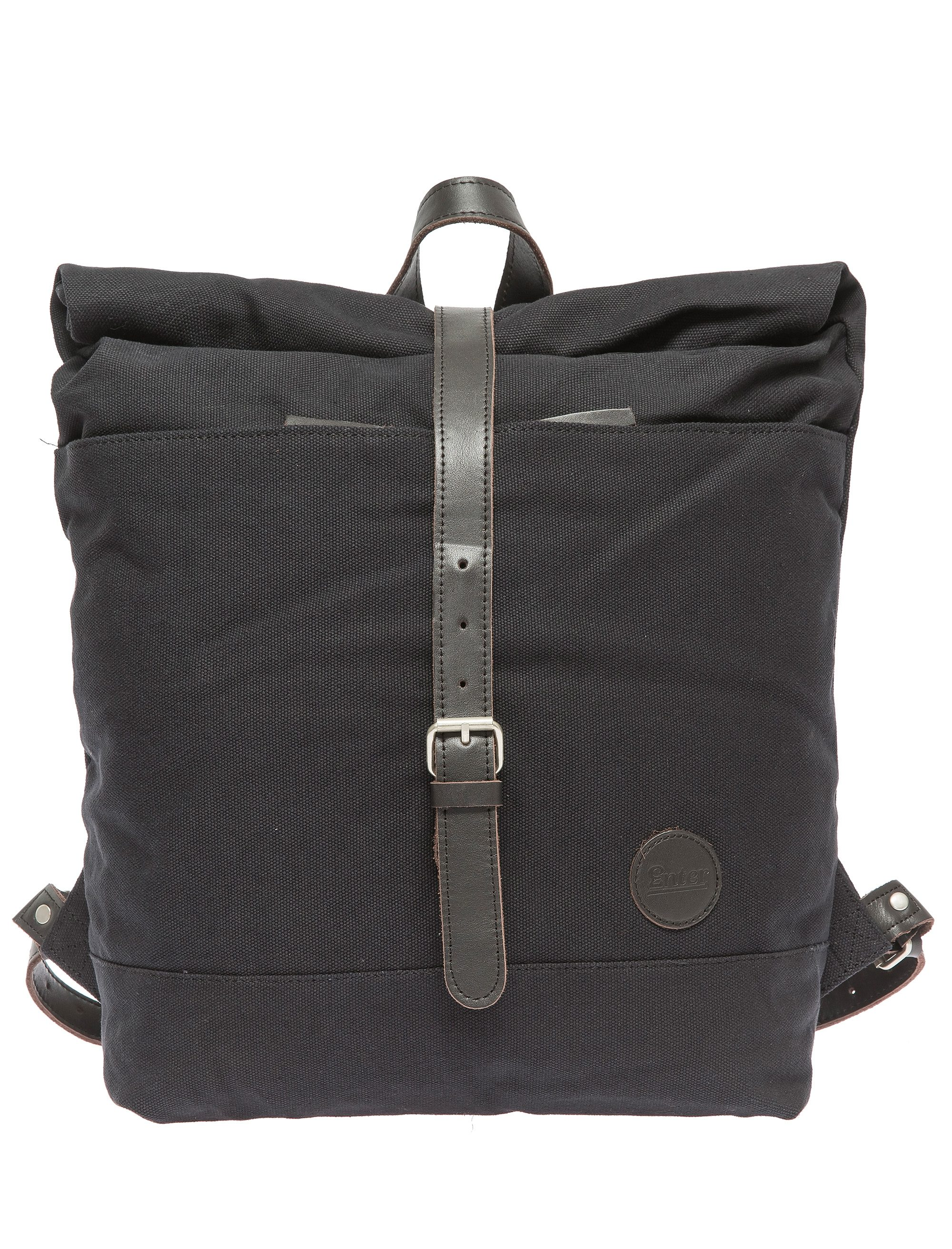 Enter Rucksack mit Aufroll-Verschluss, »Roll Top Backpack, Black/Dark Brown«