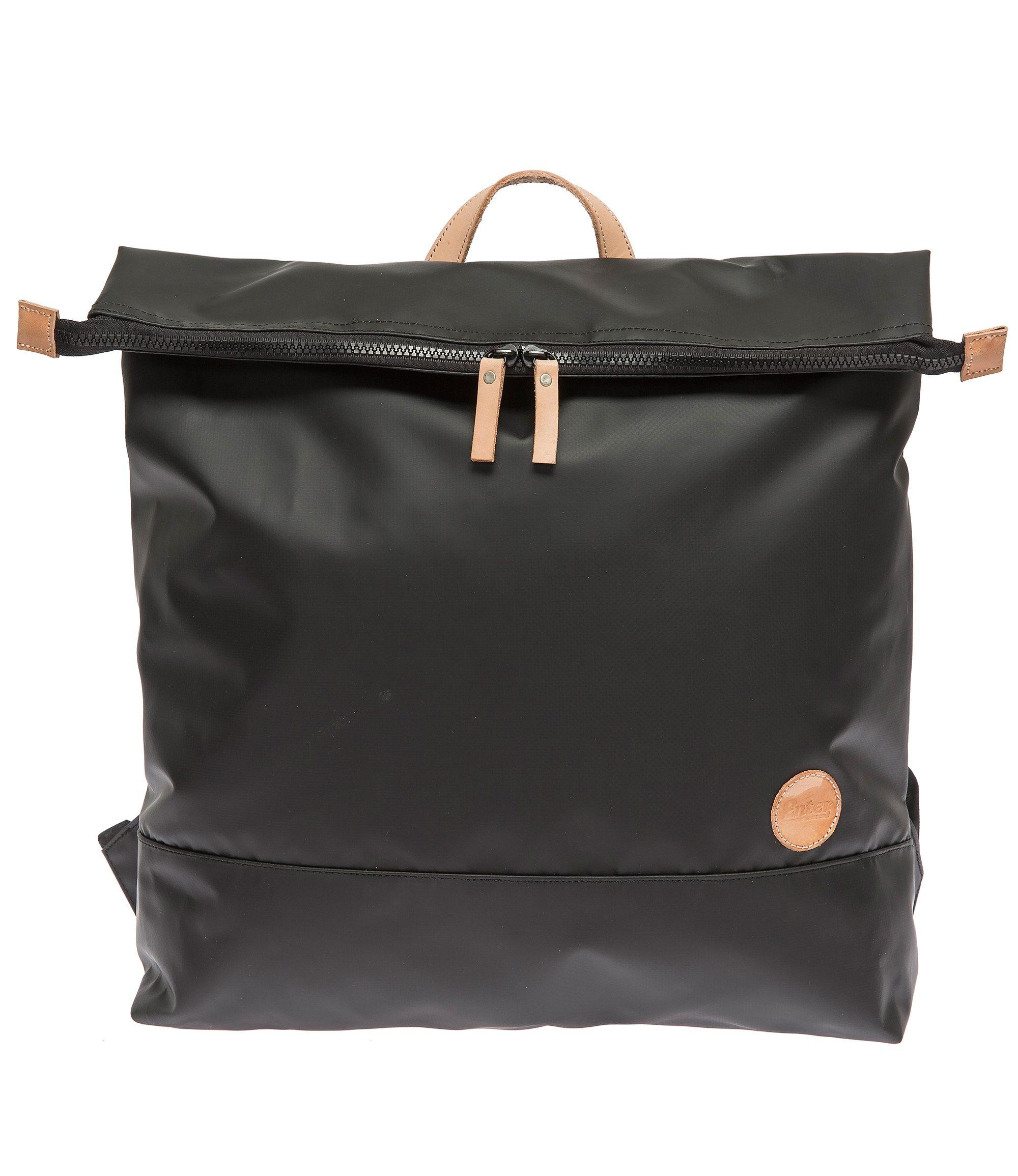 Enter Wasserabweisender Rucksack, »Top Zip Backpack, Black/Natural«