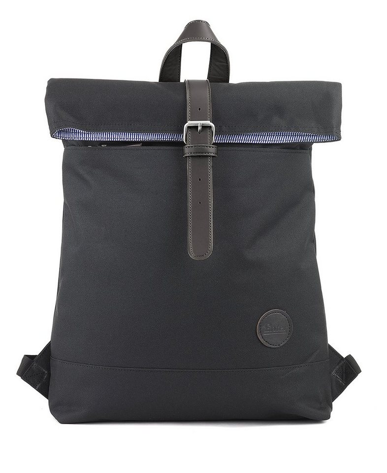 Enter Rucksack, »Fold Top Backpack, Black« in schwarz