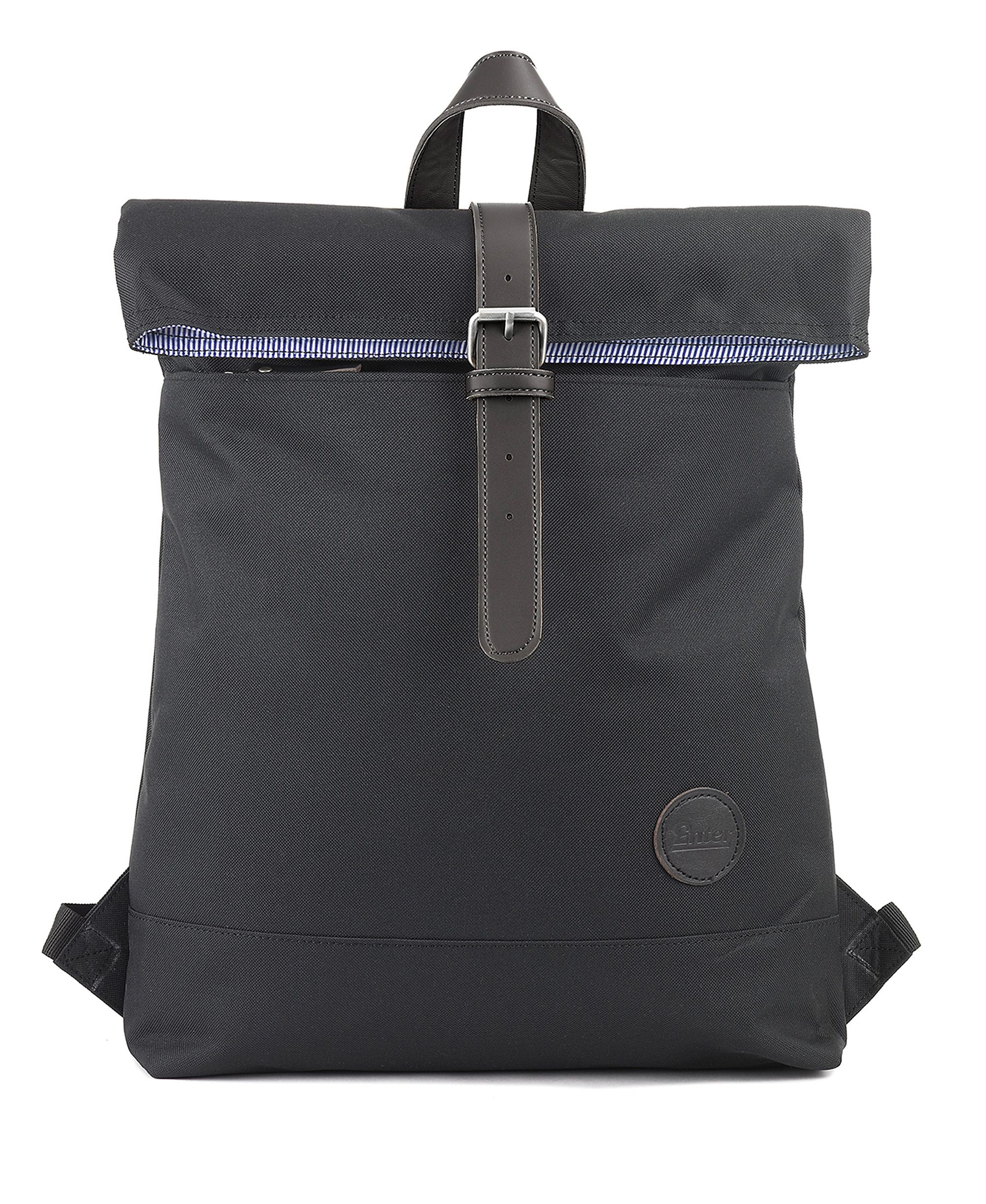 Enter Rucksack, »Fold Top Backpack, Black«