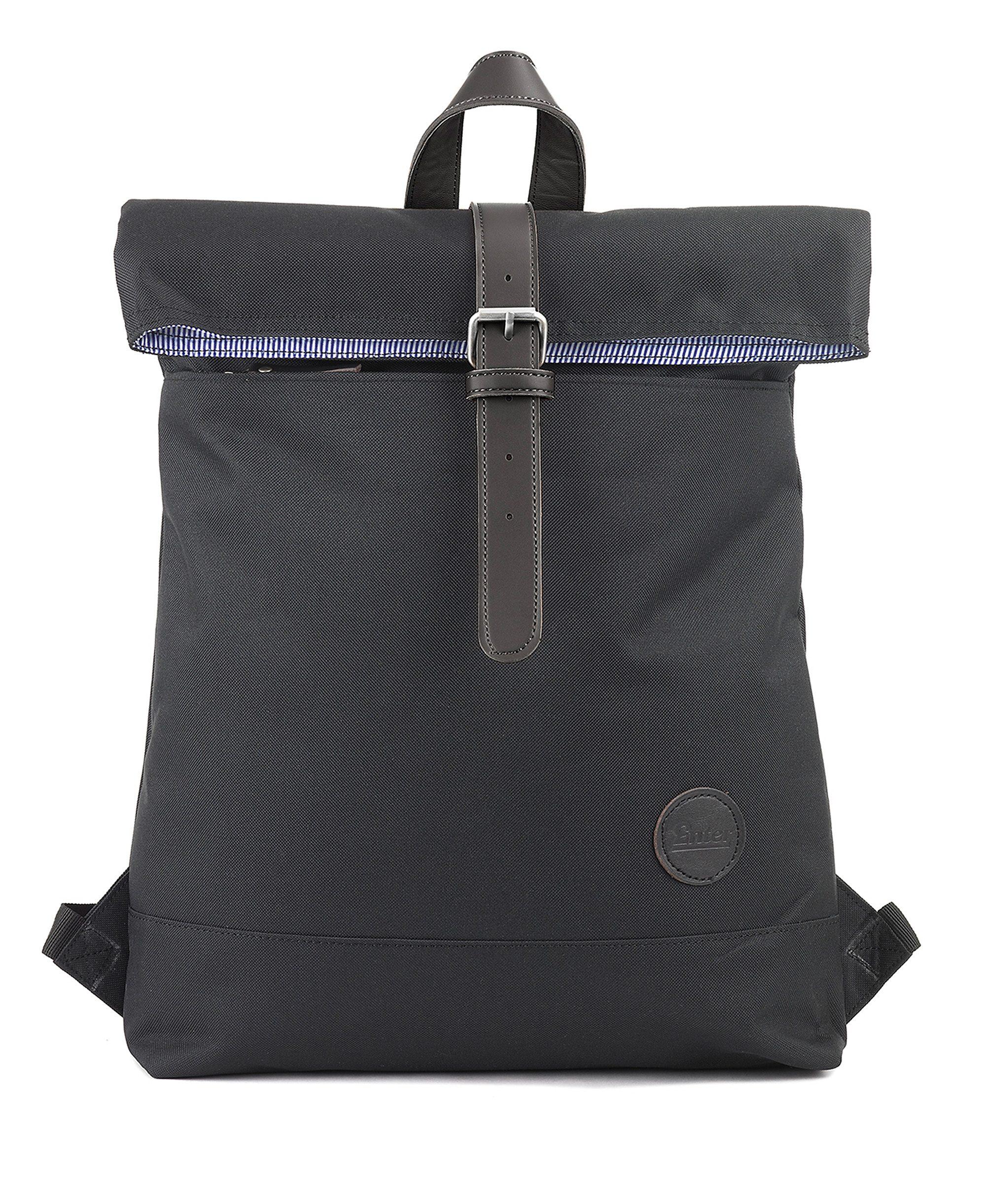 Enter Rucksack, »Fold Top Backpack, Black«