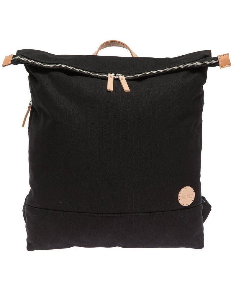 Enter Rucksack mit Laptop-Trennwand, »Top Zip Backpack, Black/Natural« in navy