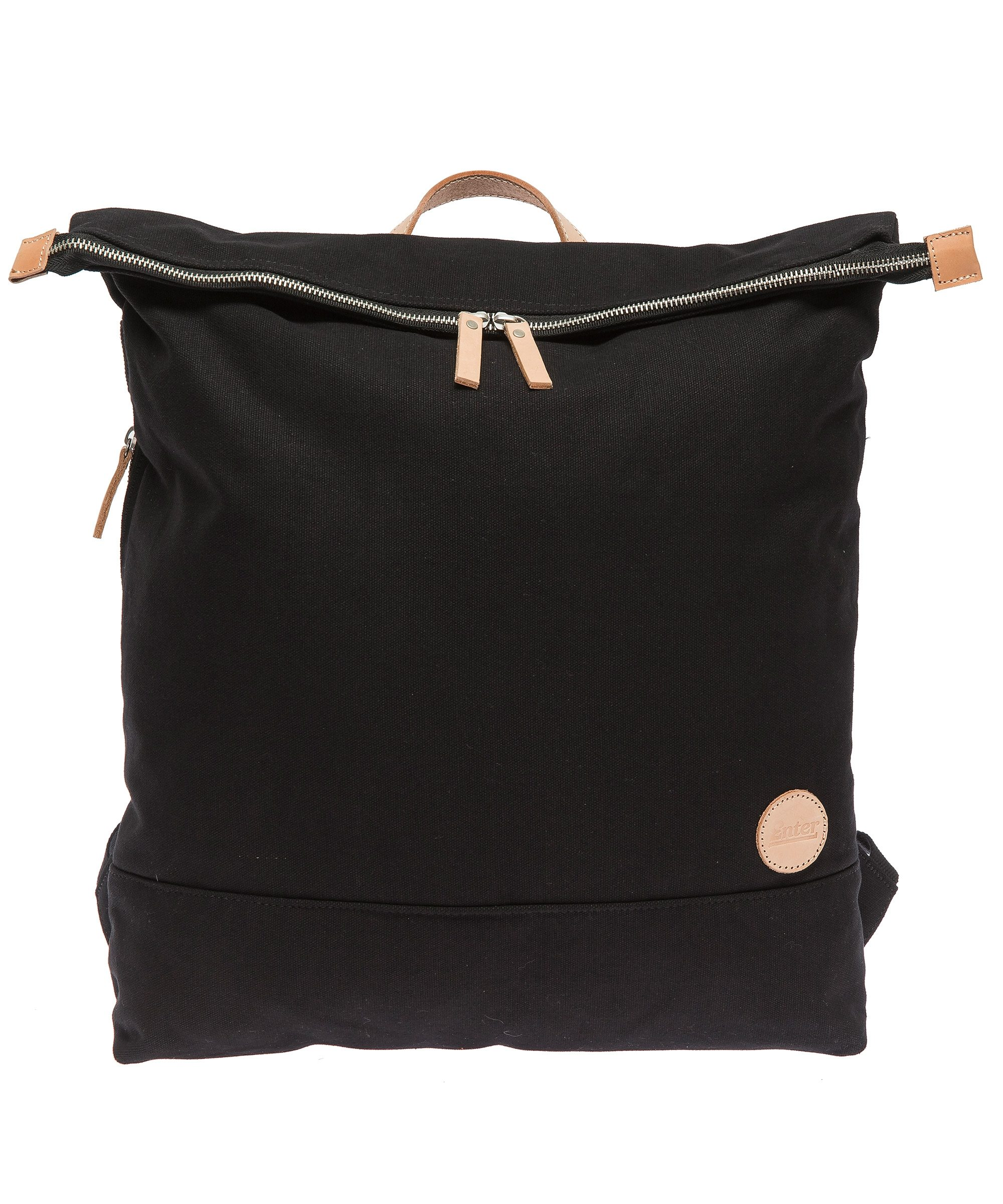 Enter Rucksack mit Laptop-Trennwand, »Top Zip Backpack, Black/Natural«