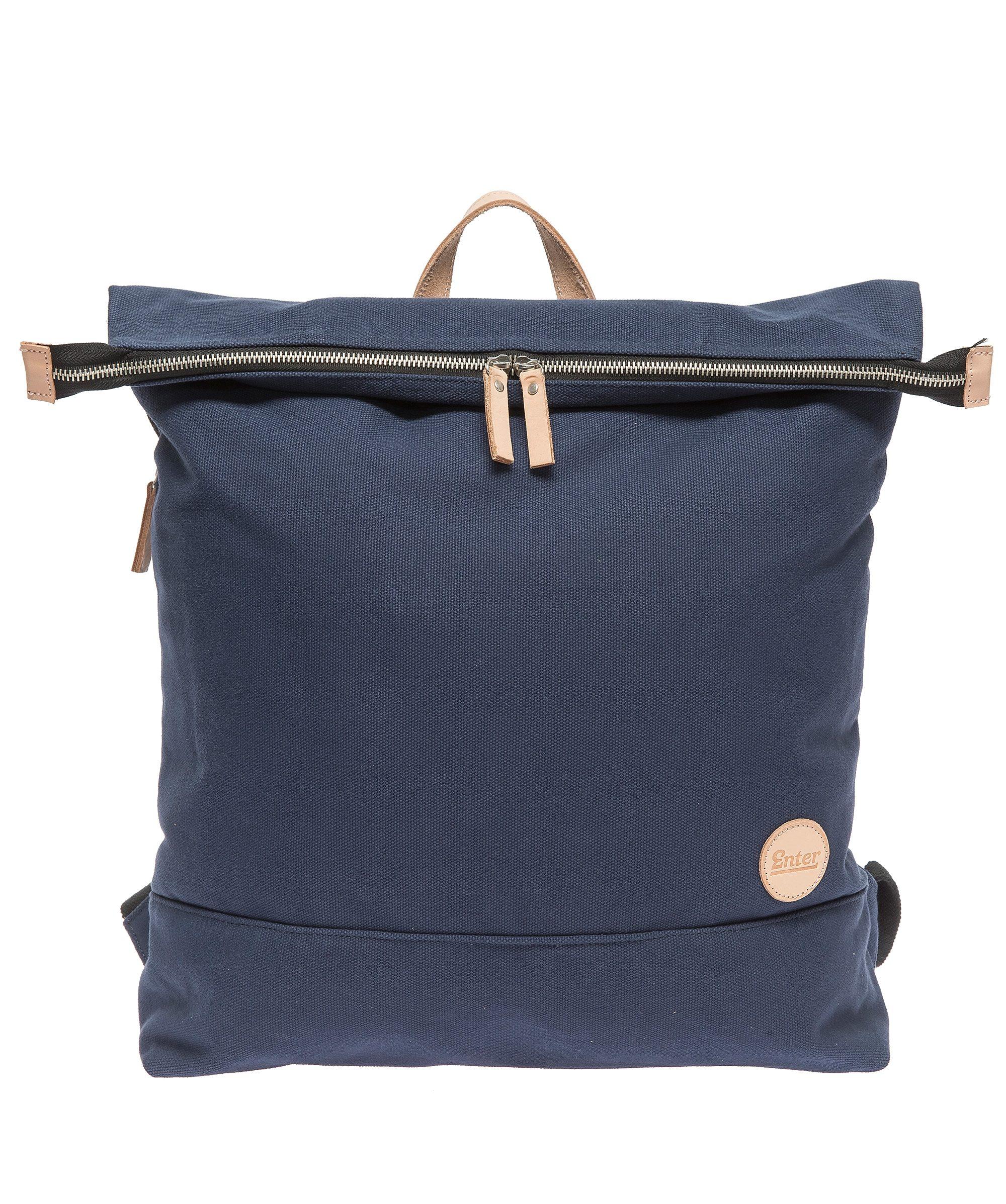 Enter Rucksack mit Laptop-Trennwand, »Top Zip Backpack, Navy/Natural«