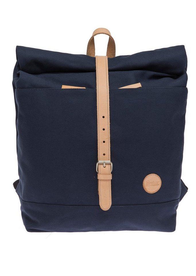 Enter Rucksack mit Aufroll-Verschluss, »Roll Top Backpack, Navy/Natural« in blau