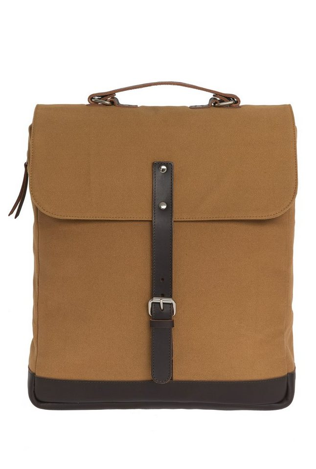 Enter Messenger Rucksack, »Messenger Backpack, Khaki/Dark Brown« in khaki