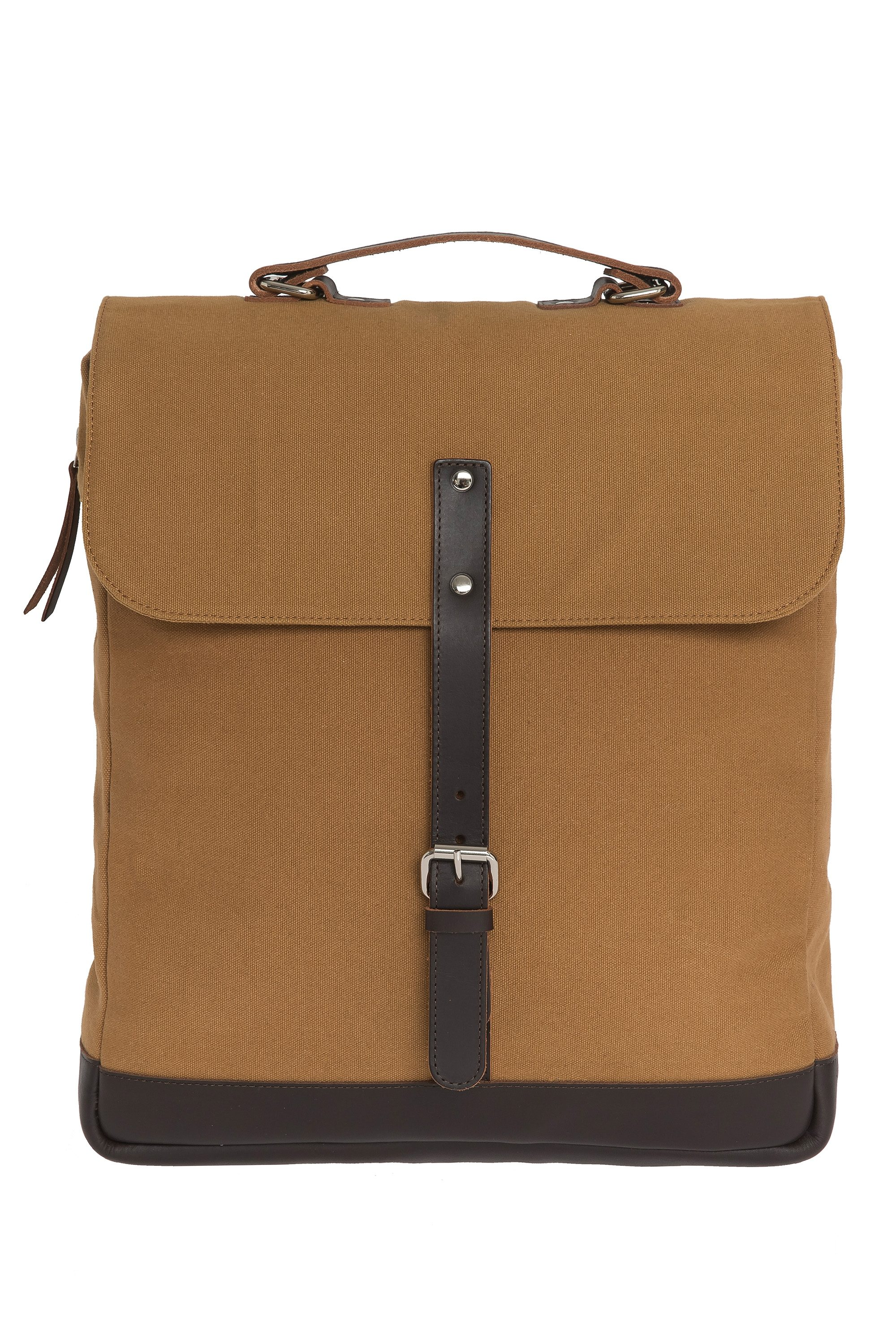 Enter Messenger Rucksack, »Messenger Backpack, Khaki/Dark Brown«