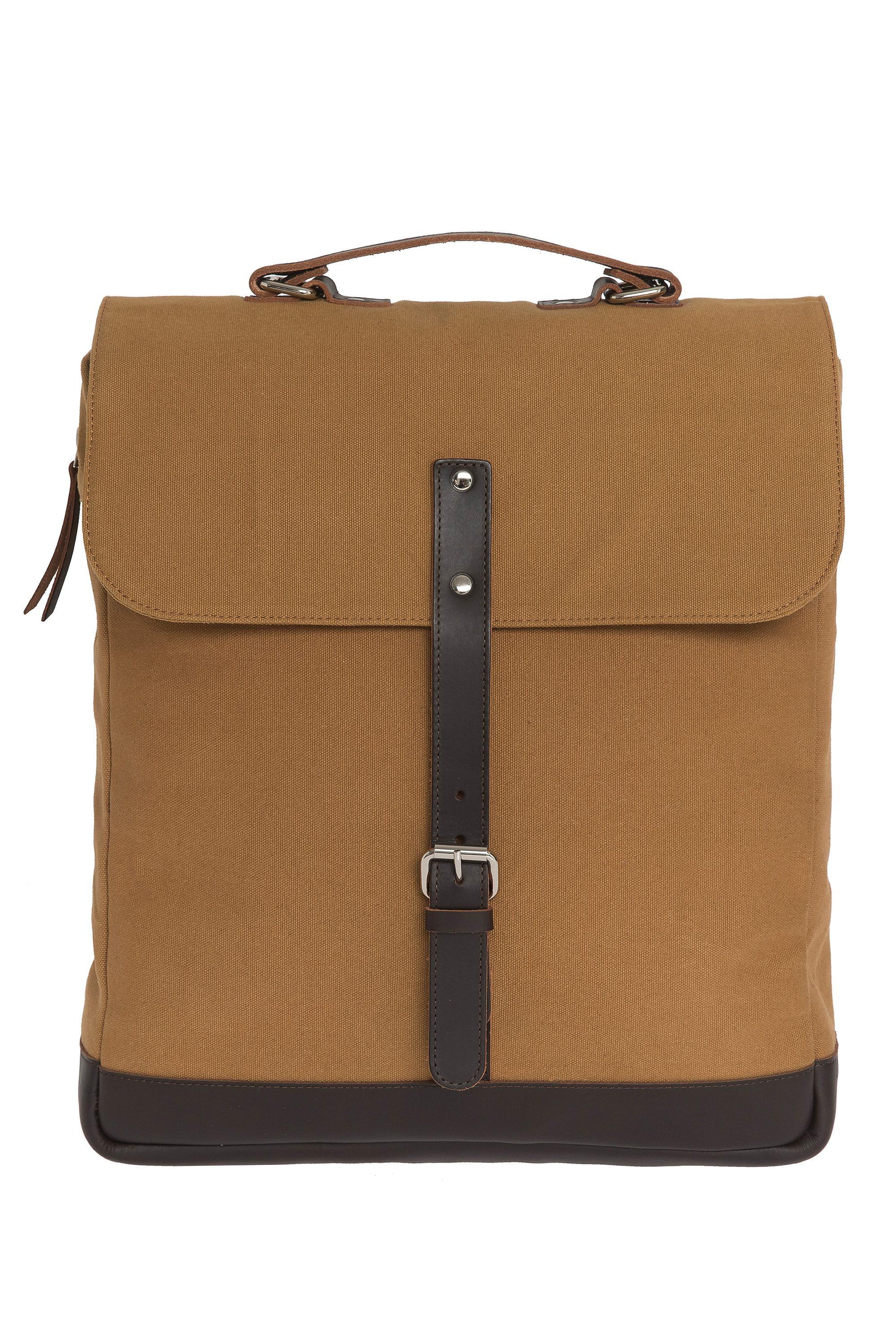 Enter Messenger Rucksack, »Messenger Backpack, Khaki/Dark Brown«