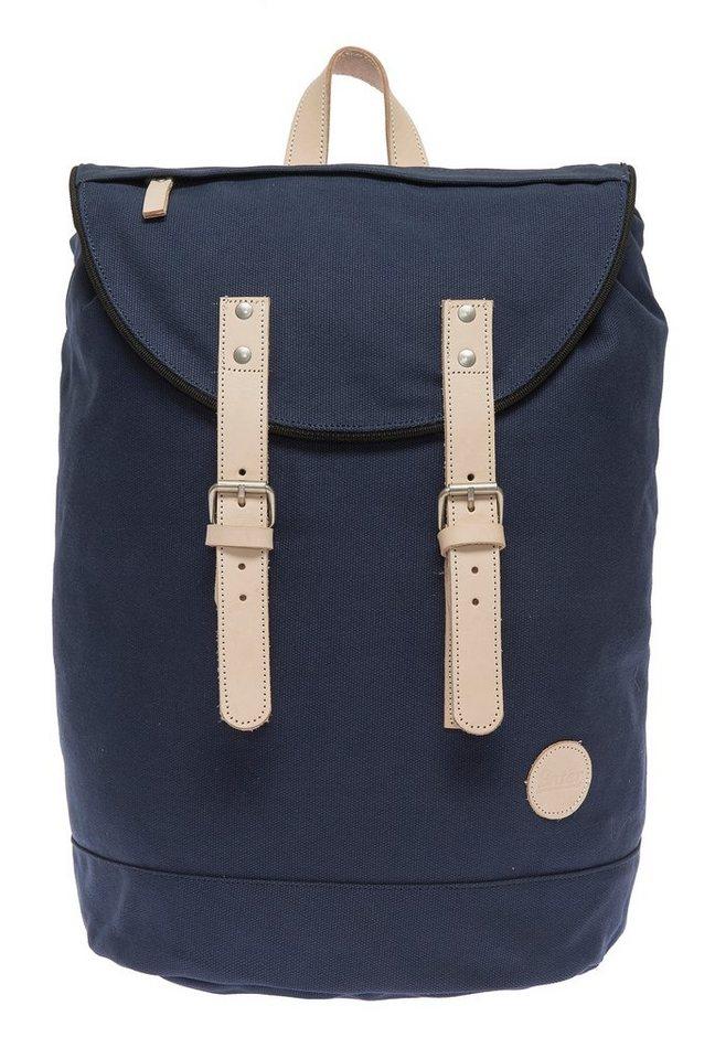 Enter Rucksack mit Echtleder-Applikationen, »Day Hiker Bag, Navy/Natural« in dunkelblau
