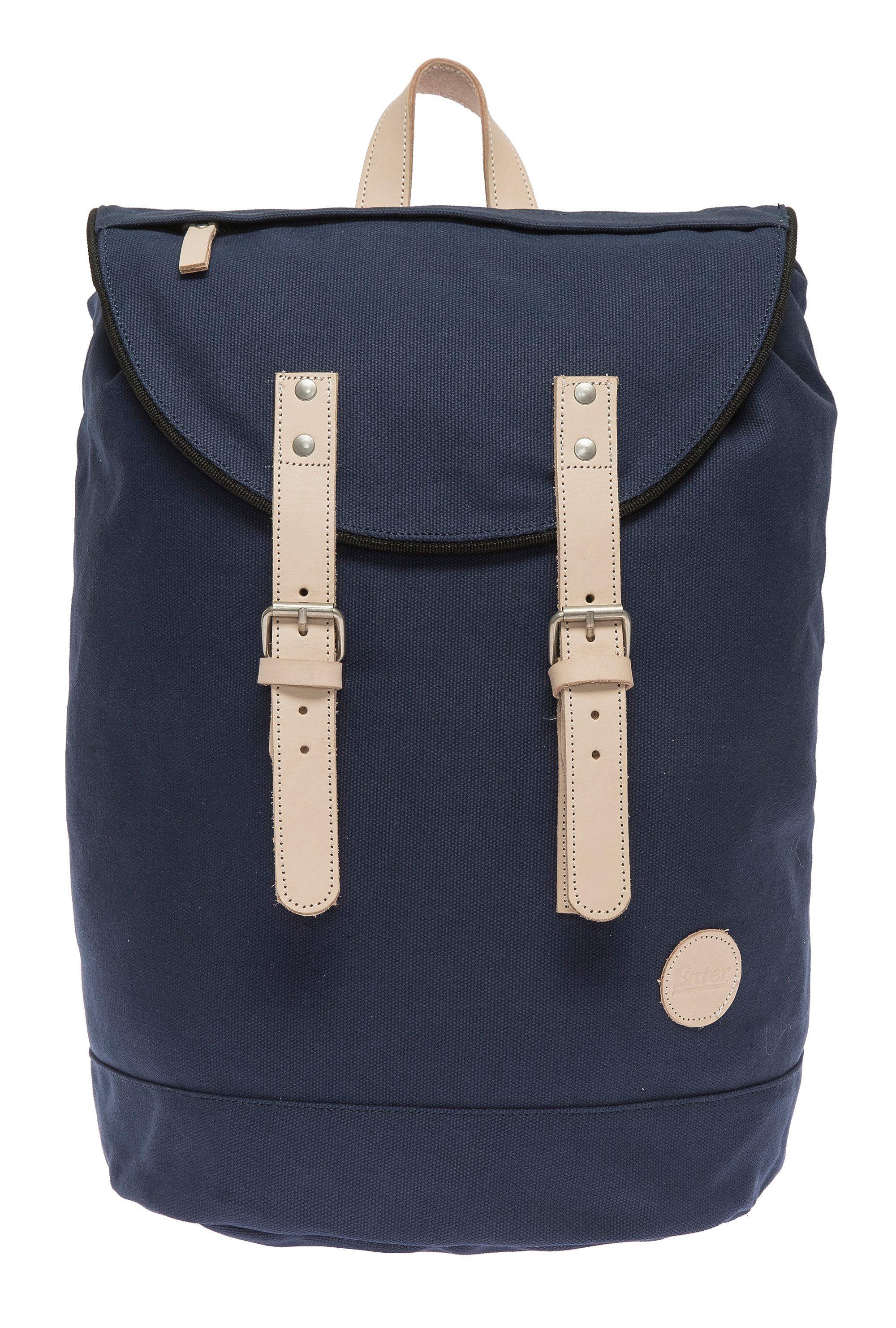 Enter Rucksack mit Echtleder-Applikationen, »Day Hiker Bag, Navy/Natural«