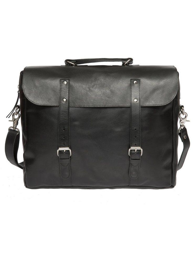 Enter Aktentasche mit Rucksackträgern, »Brief, Black« in schwarz