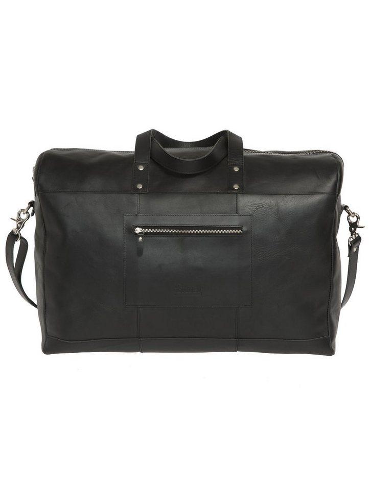 Enter Reisetasche aus Leder, »Duffel, Black« in schwarz