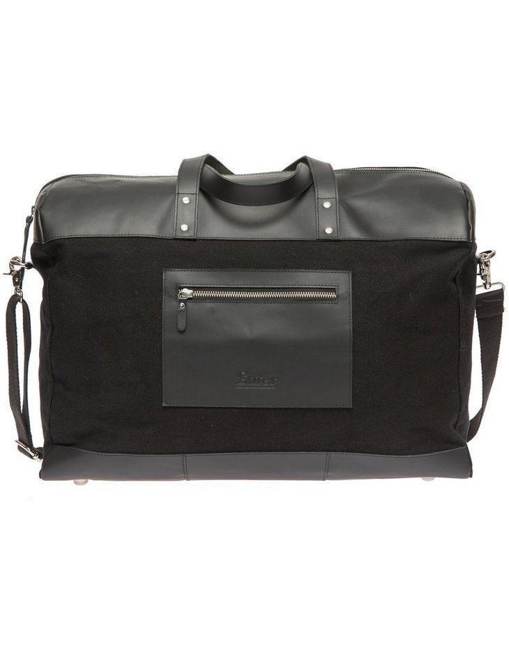 Enter Reisetasche, »Duffel Canvas & Leather, Black« in schwarz