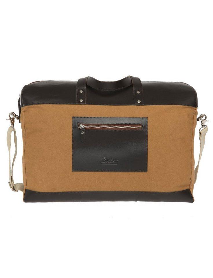 Enter Reisetasche, »Duffel Canvas & Leather, Khaki/Dark Brown« in khaki
