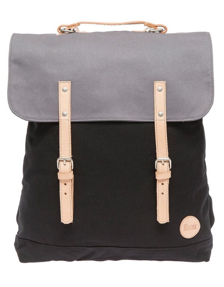 Enter Rucksack mit 17 Zoll Laptopfach, »Backpack, Black/Grey« in schwarz/grau