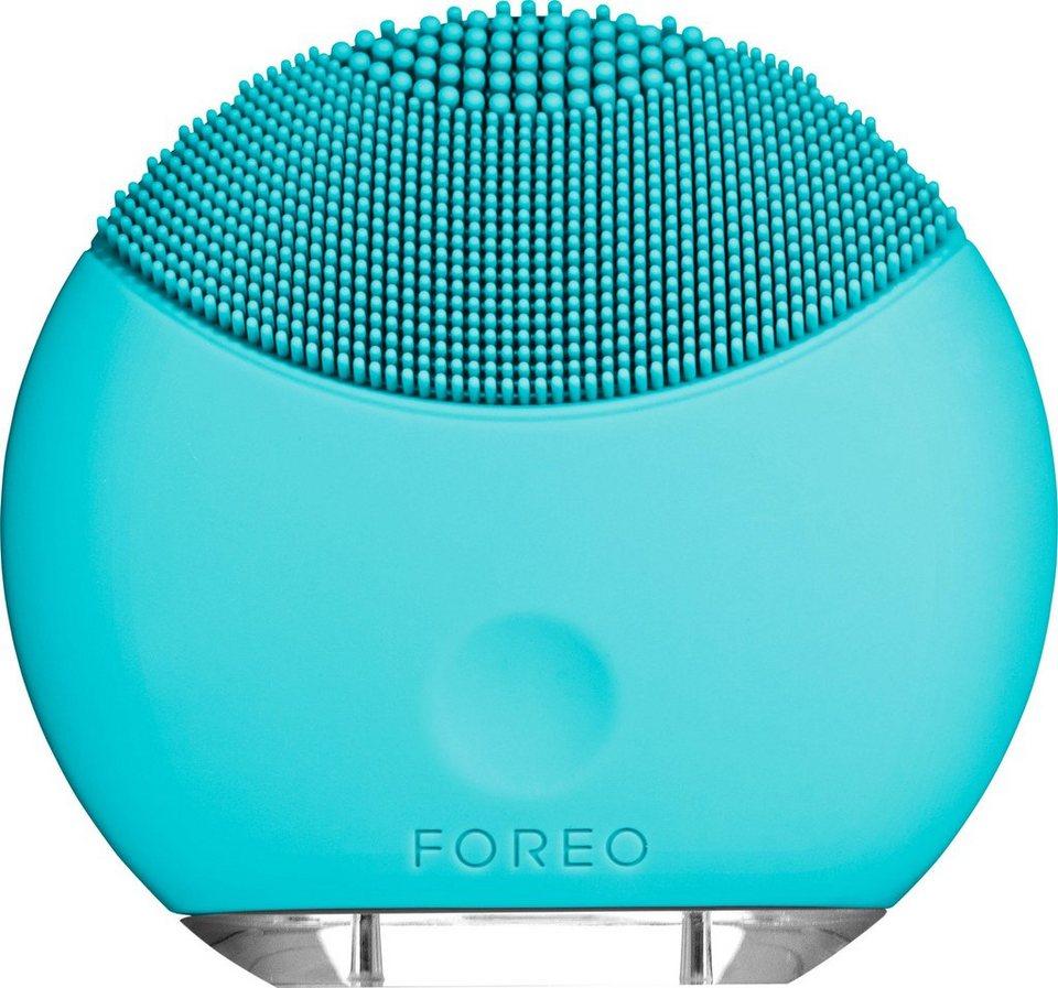 Foreo Gesichtsreinigungsbürste LUNA™ mini Turquoise Blue, kompakt & stylish in mintgrün