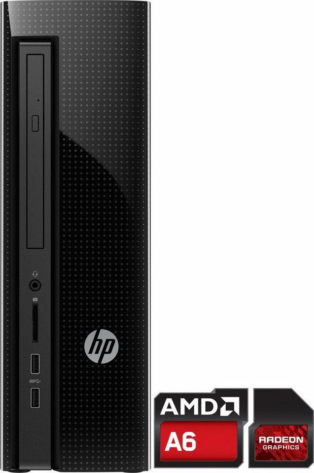 HP Slimline 450-a113ng PC, AMD Quad Core, 8192 MB DDR3-RAM, 1000 GB Speicher, AMD Radeon R4 in schwarz