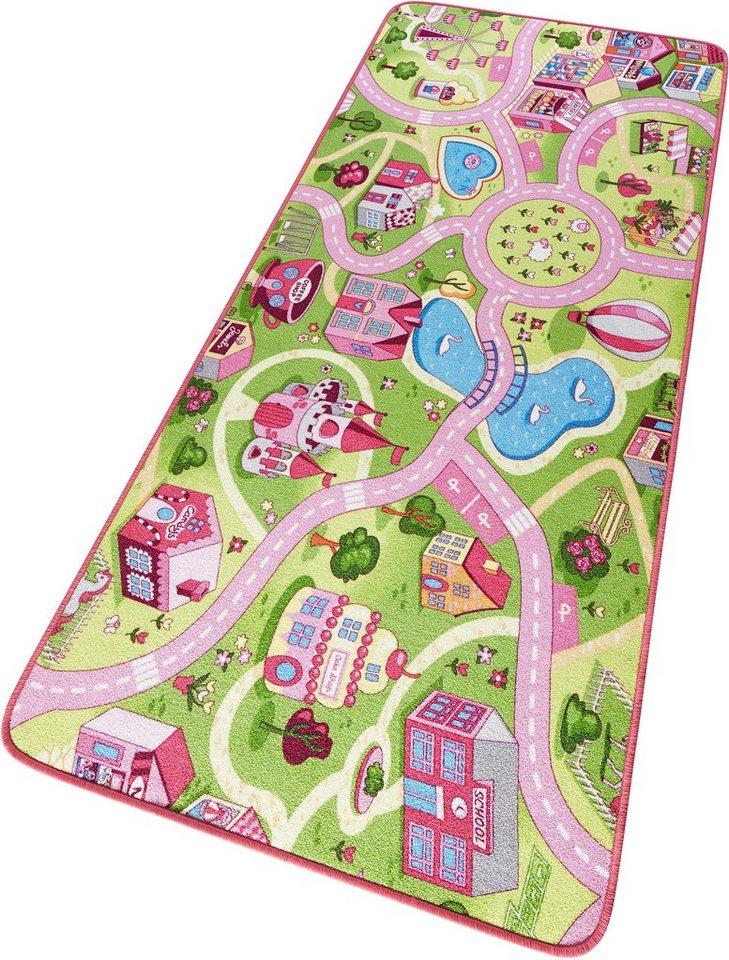 Kinder-Teppich, Hanse Home, »Sweettown«, Straße, getuftet in rosa