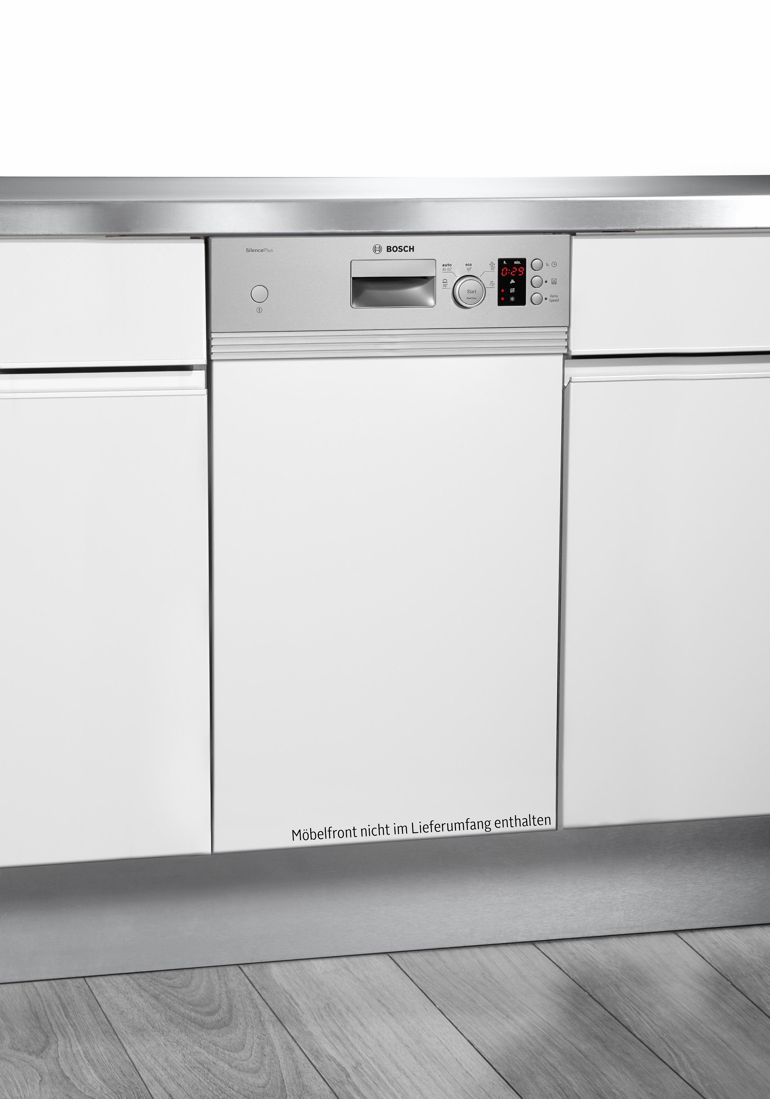 BOSCH Teilintegrierbarer Geschirrspüler Serie 4 SPI50E94EU braun, A+, 9,5 Liter, 9 Maßgedecke