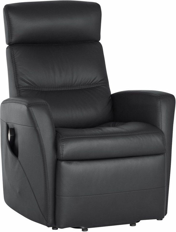 Relaxsessel »Divani« mit motorischer Aufstehhilfe in schwarz