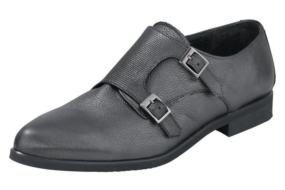 Slipper in grau/metallic