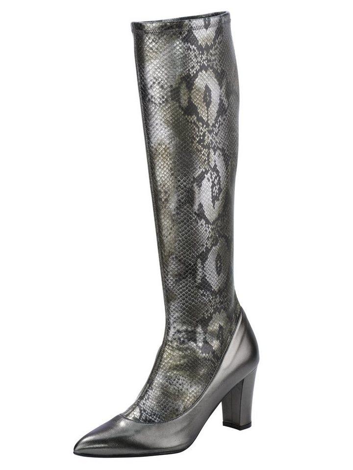 Stiefel in mint/metallic