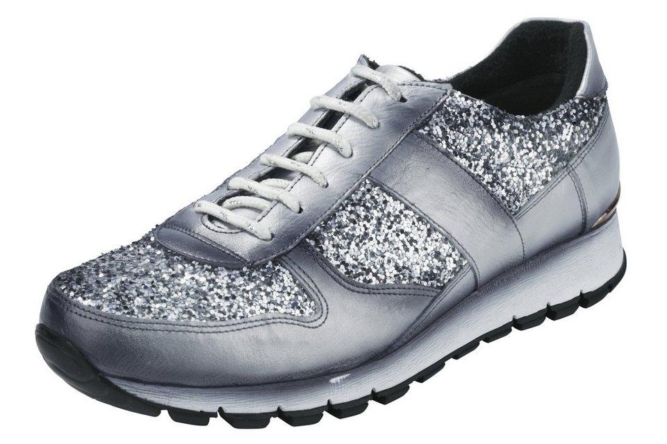 Sneaker in silberfarben